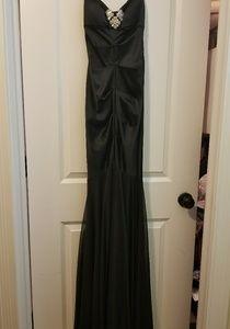Cache Black Strapless Formal Dress